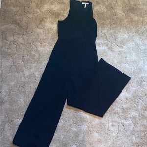 Black jumpsuit with mesh middle